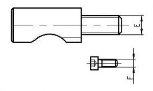 CAMLOCK čap a skrutka